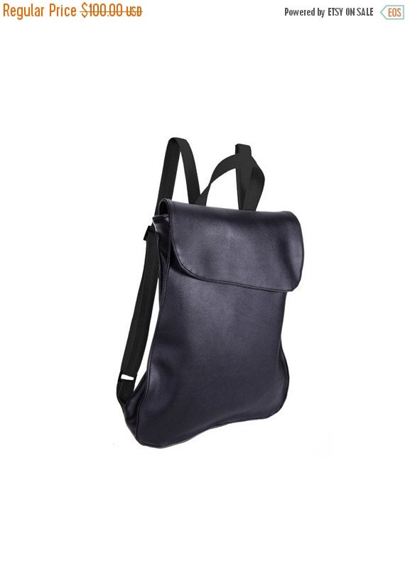Black Leather backpack purse Backpack Purse Laptop Bags