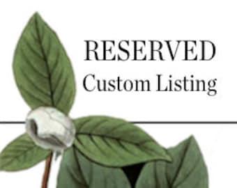 RESERVED Custom Listing for Liesa Woolstenhulme