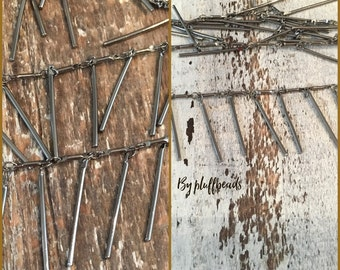 DANGLE bar chain GUNMETAL plated 5mm bar link 25mm dangle bar drop