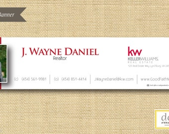 Digital File | Custom Email Signature Banner | Houndstooth | Any Color Any Company
