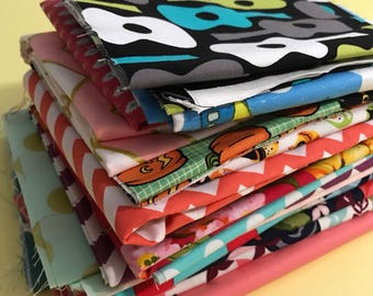 Clearance Sale Large Scrap Pack - Michael Miller, Amy Butler and Riley Blake Fabrics