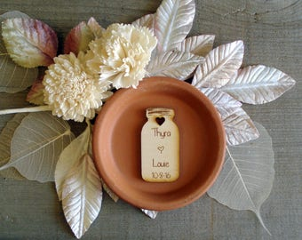 140 Mason Jar Wedding favors Personalized Wood Cut out