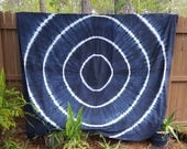 Extra Large Blue and White Tie Dye Tapestry Beach Blanket Hippie Sheet Festival Gear Yoga Mat Meditation Mat Gypsy Boho Bedding Wall Hanging