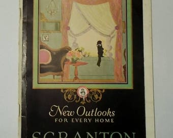 Vintage 1924 SCRANTON LACE New Outlooks for Every Home Booklet-Window Coverings