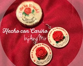 Handmade original Don't break my Mazapán earrings by AngMir