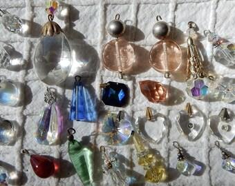 Destash lot of 25 Swarovski Glass Crystal Charms or Pendants    OG35
