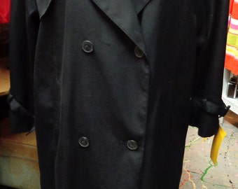 VINTAGE 1980's Ladies Black Classic Trench Coat (available)