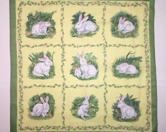 SPRING Easter Bunny Rabbit Bandana refashion upcycle fabric repurpose