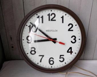 Westclox Industrial School House Clock, Working