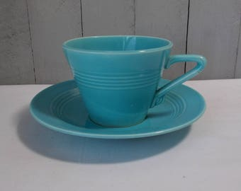Vintage Harlequin Cup and Saucer/ Fiesta