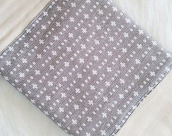 Burp Cloth, Woven Plus, diaper burp cloth, gray burp cloth, gender netural baby shower gift, gifts under 15