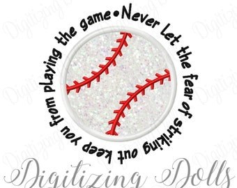 Baseball Saying Applique Embroidery Applique Design 4x4 5x7 6x10 Babe Ruth INSTANT DOWNLOAD