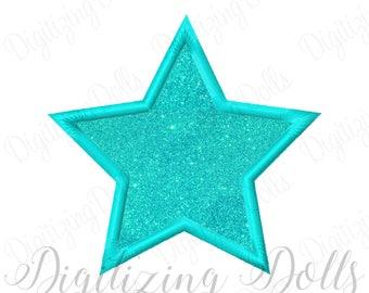 Star Applique Machine Embroidery Design 2x2 3x3 4x4 5x5 5x7 6x6 6x10 INSTANT DOWNLOAD