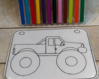 monster truck coloring picture coloring page felt coloring page vinyl coloring page