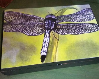 Dragonfly Upcycled Cigar Box