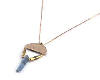 Truth Chaser Necklace in Kyanite Gemstones