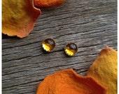 Sterling Silver Citrine Stud Post Earrings Yellow Stone Gemstone 925 Jewelry November Birthstone