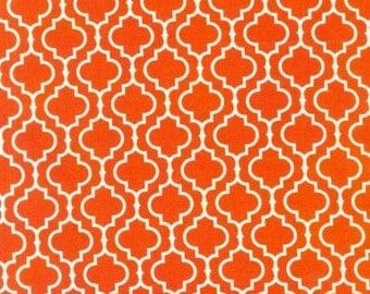 3 Yard Cut Metro Living Orange and White Geometric by Robert Kaufmann