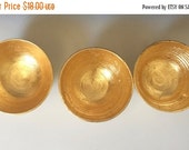 Holiday Sale Gold Bowls, Pottery Seconds, Antique Looking Gold Leaf Bowls in Porcelain