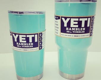 Yeti Powder Coated Tiffany Blue - Choose Your Size and Color
