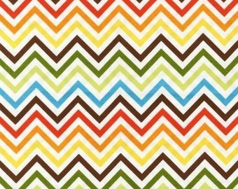 Multi colored chevron 3/4 yard
