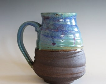Extra Large Mug, 27 oz, unique coffee mug, handmade ceramic cup, handthrown mug, stoneware mug, wheel thrown pottery mug, ceramics