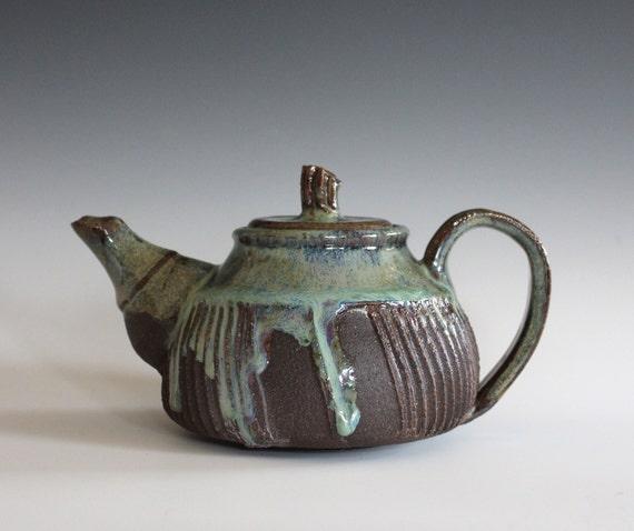 Unique Pottery teapot, 14 oz, Ceramic Teapot, Handmade Stoneware Teapot, Handmade Teapot, ceramics and pottery, pottery teapot, wheel thrown