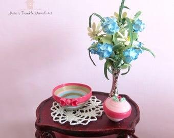 Handmade miniature bowl - ooak dollhouse decorative bowl in 1/12th scale