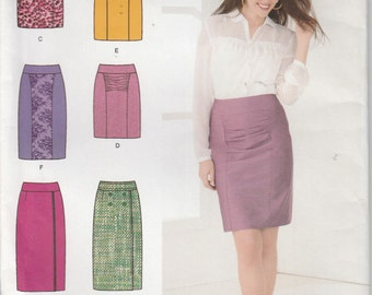 Fitted Skirt Pattern 6 Styles 2 Lengths Misses Size 14 - 22  uncut  Simplicity 1760