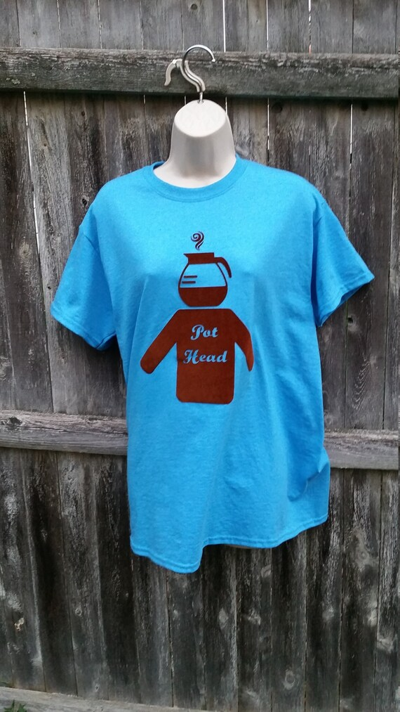 Pothead tee with torso coffee humor tee shirt Adult Med.