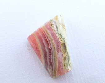 Rhodochrosite 50 50 Plume Pink Cabochon. BACON Natural Gemstone. Gorgeous Pattern. Glossy Polish. Can Be Drilled. 29 cts. 26x20x8mm (RHC130)