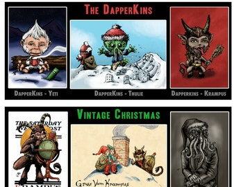Krampus and Cthulhu's Christmas Collection 2016 Greeting Card Collection - Christmas Cards