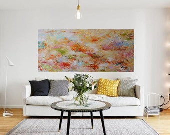 Abstract Painting,large Painting, Abstract Art ,original Painting,multi  Color, Colorful