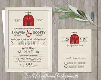printable barn wedding invitation rustic barn wedding invitations country wedding rustic wedding invite rsvp digital template