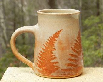 Big Stoneware Mug, 20oz Big coffee Mug, Handmade, Pottery,Tea Mug, Woodland,Microwavable,Wheel Thrown, Kitchen Decor, Country Cottage Cup