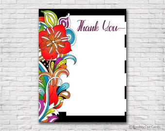 Bold Floral Thank You Card