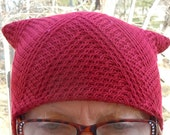 Red knit limited edition pussyhat