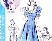 1940s Bust 34 Misses Princess Dress Button back closure Vintage Sewing Pattern Ellen Drew Hollywood 1997 c 1940 40s