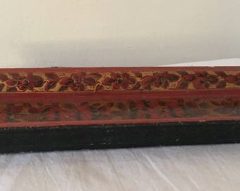 A vintage Russian lacquer work tray.