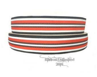 "10 Yards Wholesale 1.5"" Halloween Stitch Preppy Stripe grosgrain ribbon"