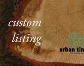 Custom Listing for spacey300 - Custom Engraved Wood Tags