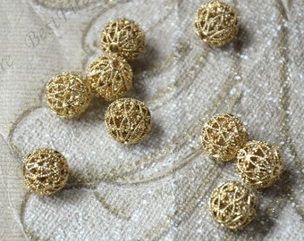 2 pcs 11 mm Gold Plated Brass rondele Charm Spacer beads ,Charms Jewelry Findings,metal brass spacers finding beads