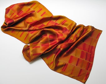 Extra-large Gel Electrophoresis Silk Charmeuse Scarf