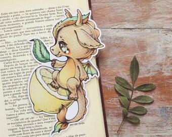 Vitamin Dragon - Lemon - bookmark - made to order