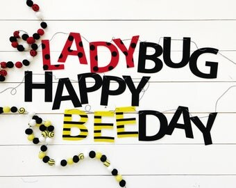 Lady Bug & Bee Themed Banners / Garlands