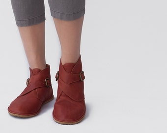 Ankle boots with Buckles - Crossroads in Cognac - CUSTOM FIT