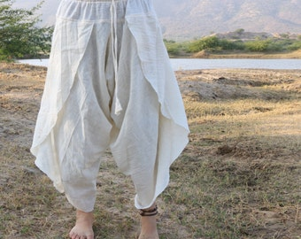 Organic cotton plain Dhoti Pants
