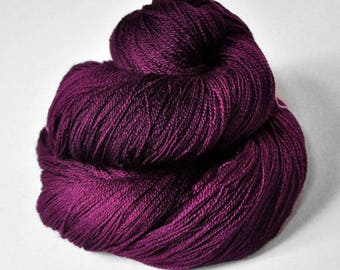 Burning fuchsia - Merino/Silk/Cashmere Fine Lace Yarn