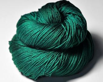 Shattered malachite - Merino/Silk Fingering Yarn Superwash