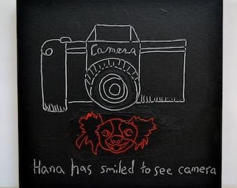 Original Wall Art-Camera Painting